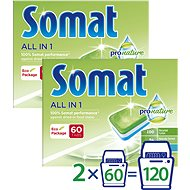 SOMAT All in One Pro Nature 2 × 60 pcs - Eco-Friendly Dishwasher Tablets