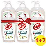 SAVO Tekuté Mýdlo Hydratující s Antibakteriální složkou Heřmánek & Jojobový Olej 250 ml 4+2 - Tekuté mýdlo