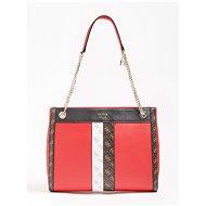 GUESS Katey Logo Strip Handbag - Red Multi - Handbag