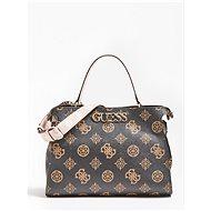 GUESS Uptown Chic Logo Handbag - Brown - Handbag