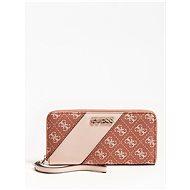 GUESS Camy 4g Logo Colour-Block Wallet stripe - Cinnamon Multi - Peněženka