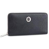 TOMMY HILFIGER Monogram Plaque Zip-Around Wallet AW0AW06500 Navy Blue - Peněženka