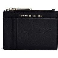 TOMMY HILFIGER Soft Turnlock Credit Card Holder AW0AW08029 Black - Peněženka