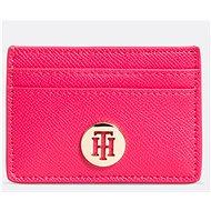 TOMMY HILFIGER Classic Saffiano Card Holder Pink - Peněženka