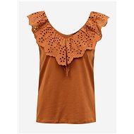 Brown blouse with madeira Jacqueline de Yong Alba - Blouse