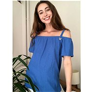 Blue blouse with bare Trendyol shoulders - Blouse