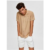 Beige shirt with a mixture of flax Selected Homme - Shirt