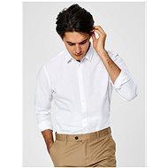 Bílá slim fit košile s příměsí lnu Selected Homme Linen - Košile