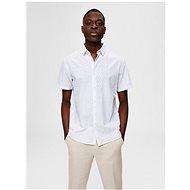 Bílá vzorovaná košile s příměsí lnu Selected Homme - Košile