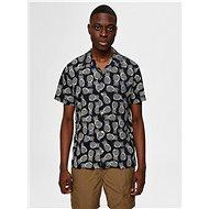 Černá vzorovaná košile Selected Homme Mildas - Košile