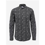 Černá vzorovaná slim fit košile ONLY & SONS Elroy - Košile