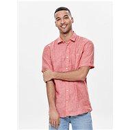 Červená lněná košile ONLY & SONS Luke - Košile