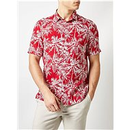 Červená vzorovaná košile Burton Menswear London - Košile