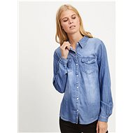 Modrá džínová košile s dlouhým rukávem VILA Bista - Košile
