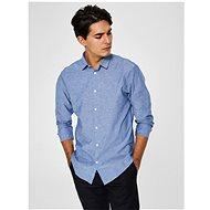 Modrá žíhaná slim fit košile s příměsí lnu Selected Homme Linen S - Košile