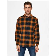 Orange plaid shirt Selected Homme Adrian - Shirt