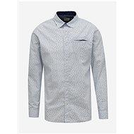 Light blue patterned shirt Jack & Jones Matthew - Shirt