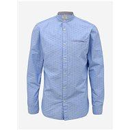 Light blue patterned slim fit shirt Selected Homme Lake - Shirt