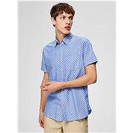 Světle modrá vzorovaná slim fit košile Selected Homme Matthew - Košile