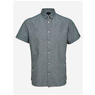 Šedá košile s příměsí lnu Selected Homme - Košile