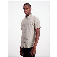 Grey Melange Short Sleeve Linen Shirt Lindbergh - Shirt