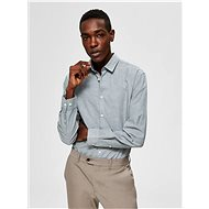 Šedozelená slim fit košile s příměsí lnu Selected Homme Linen - Košile