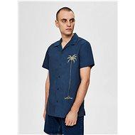 Tmavě modrá košile s potiskem Selected Homme - Košile