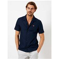Tmavě modrá košile s výšivkou Burton Menswear London - Košile