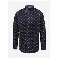 Dark blue men's patterned shirt ZOOT Richard - Shirt