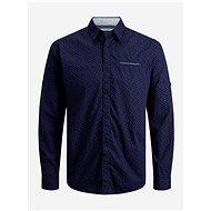 Dark Blue Patterned Shirt Jack & Jones Matthew - Shirt