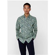 Zelená vzorovaná košile ONLY & SONS Sander - Košile