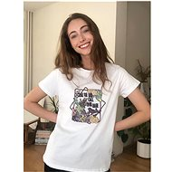 Bílé tričko s potiskem Trendyol - Dámské tričko