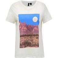 Bílé tričko s potiskem VERO MODA Desert - Dámské tričko