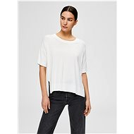 White Loose T-Shirt Selected Femme Wille - Women's T-Shirt