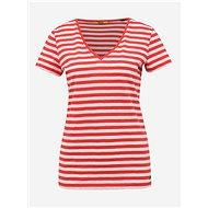 Bílo-červené dámské pruhované basic tričko ZOOT Baseline Aliki - Dámské tričko