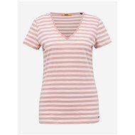 White-pink women's striped basic t-shirt ZOOT Baseline Aliki - Women's T-Shirt