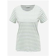 Bílo-zelené pruhované basic tričko VILA Dell - Dámské tričko