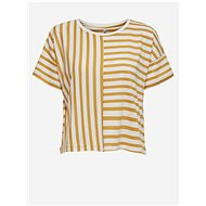 White-yellow striped loose T-shirt ONLY Marie - Women's T-Shirt