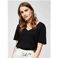 Black basic t-shirt Selected Femme Standard - Women's T-Shirt