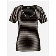 Černé pruhované basic tričko Jacqueline de Yong Best Live - Dámské tričko