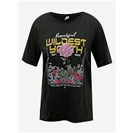 Černé tričko ONLY Lucy - Dámské tričko