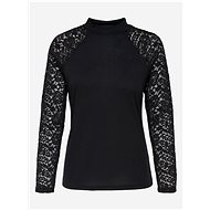 Černé tričko s krajkovými detaily Jacqueline de Yong Kim - Dámské tričko