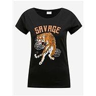 Černé tričko s potiskem Jacqueline de Yong Chicago - Dámské tričko
