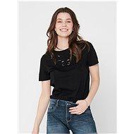 Černé tričko s výšivkou ONLY Theresa - Dámské tričko