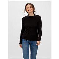 Černé žebrované tričko Noisy May Berry - Dámské tričko