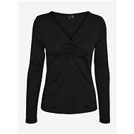Černé žebrované tričko VERO MODA Polly - Dámské tričko