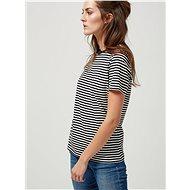 Black-cream striped basic t-shirt Selected Femme My Perfect - Women's T-Shirt