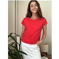 Červené basic tričko Trendyol L - Dámské tričko