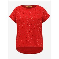 Červené dámské vzorované tričko ZOOT Baseline Runa - Dámské tričko