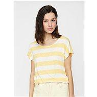 Krémovo-žluté pruhované tričko VERO MODA Wide - Dámské tričko